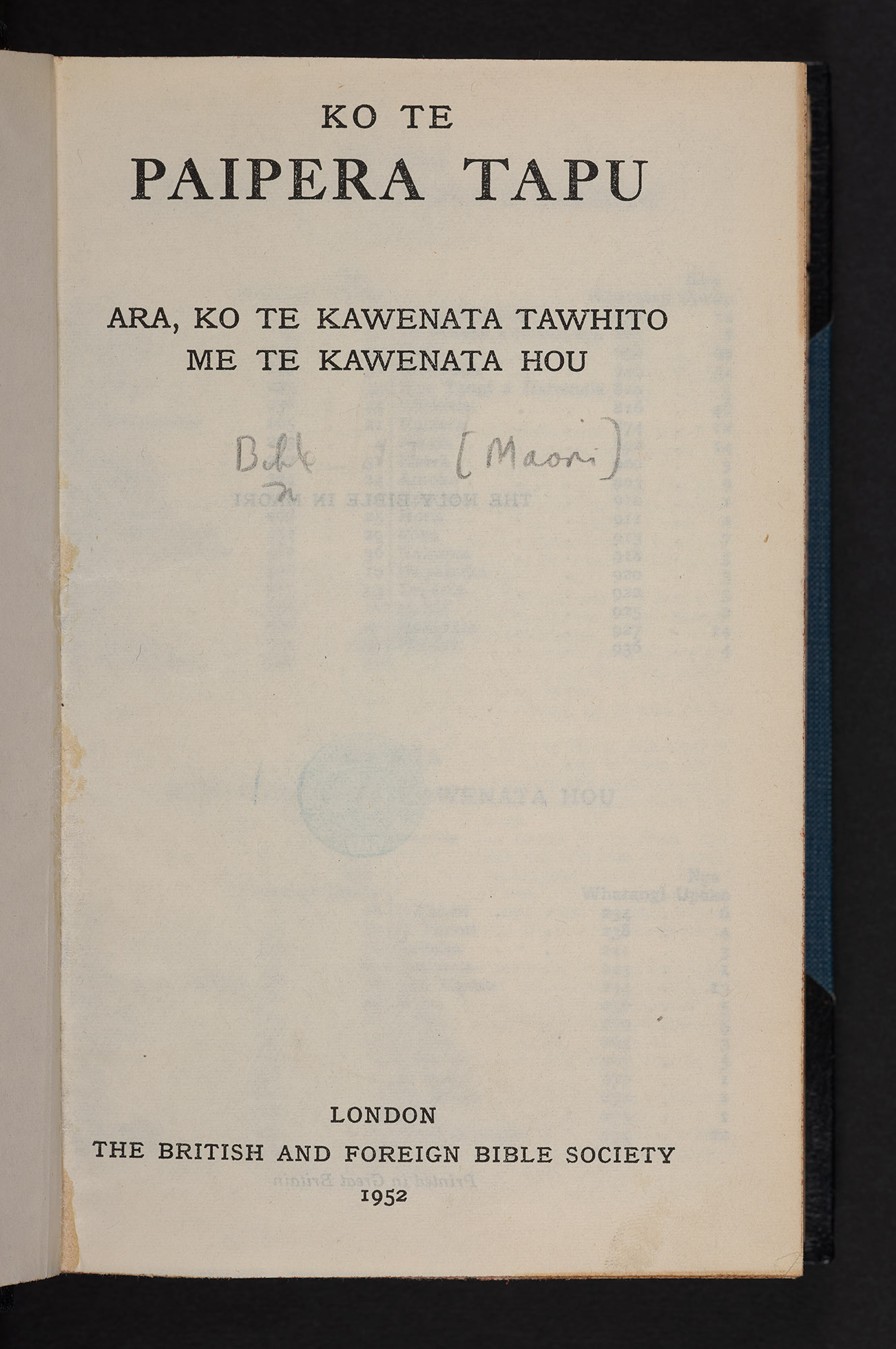 The Holy Bible in Maori