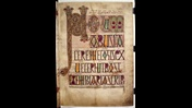 The elaborate incipit page for the prefatory material of the Lindisfarne Gospels.