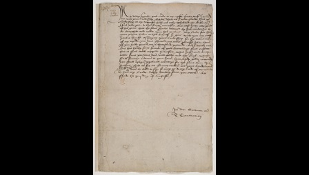 Holograph letter from Thomas Cramner to Thomas Cromwell, For Places, Kent, 13 August 1537