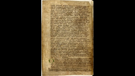 11th century English manuscript containing parts of the Old Testament in Old English.