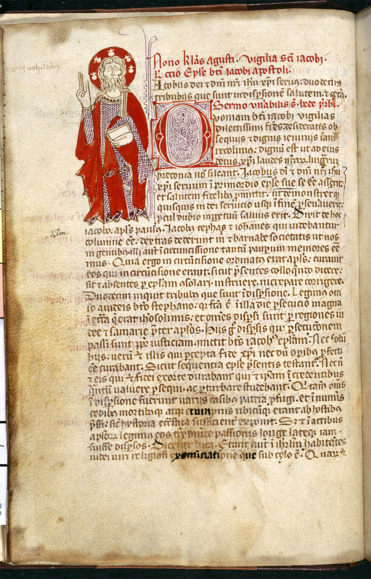 Pilgrim's Guide to Compostela, Galicia, Spain, first half of the 14th century. Liturgy of St James