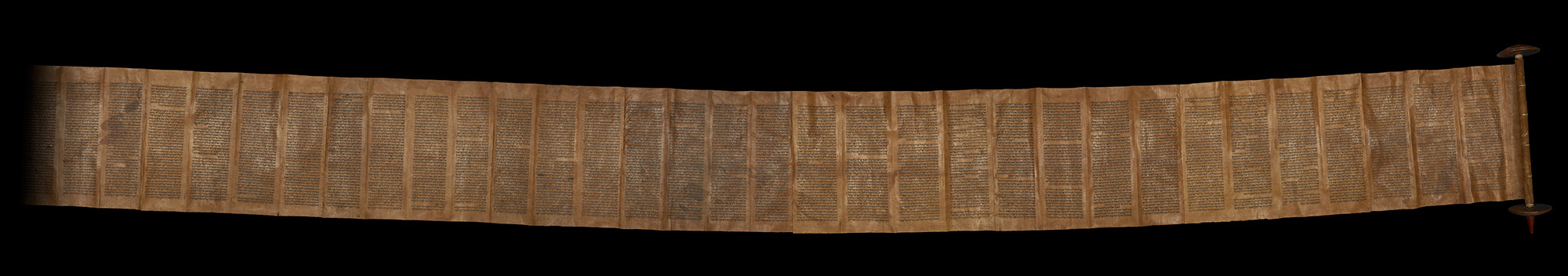 Unrolled Torah scroll