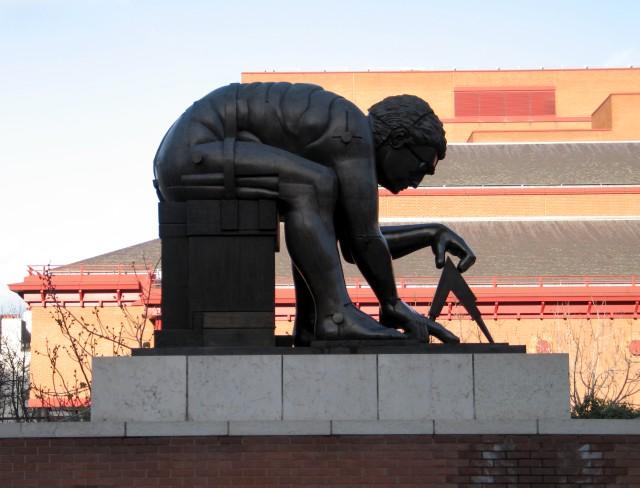 Eduardo Paolozzi statue