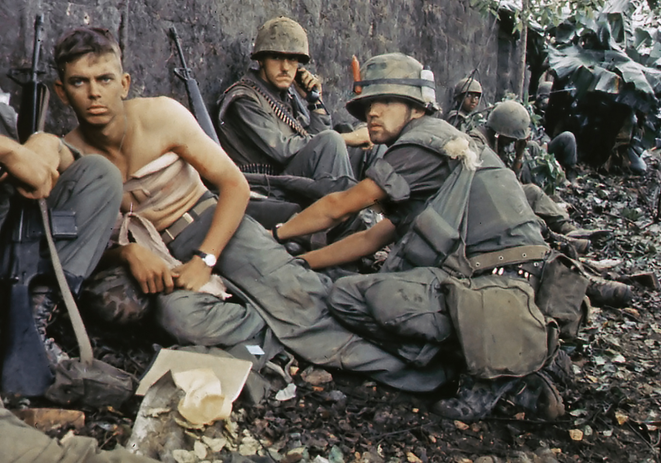 Wounded US soldiers during Operation Hue City, 1967