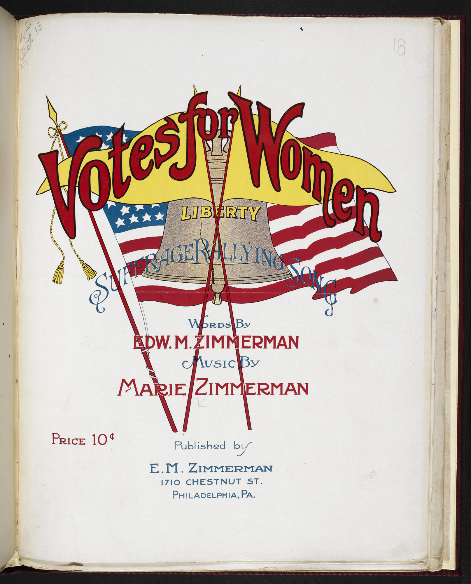 Votes for Women sheet music