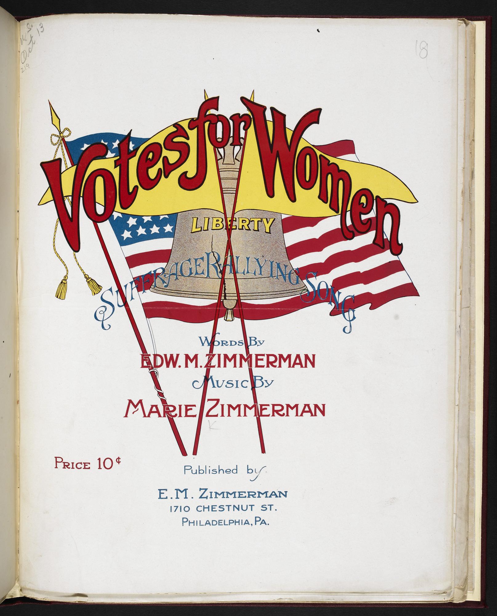 Votes for Women sheet music