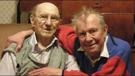 Allan Horsfall (left), with friend friend, Ray Gosling (right)
