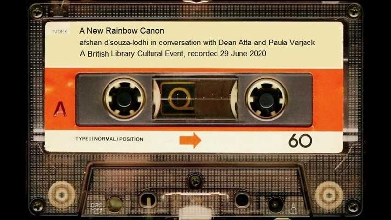 A cassette labelled 'A new literary canon'