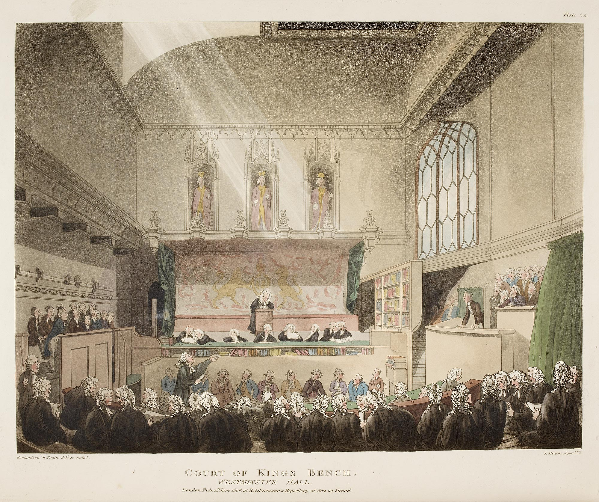 Illustration of a trial at the Court of King's Bench
