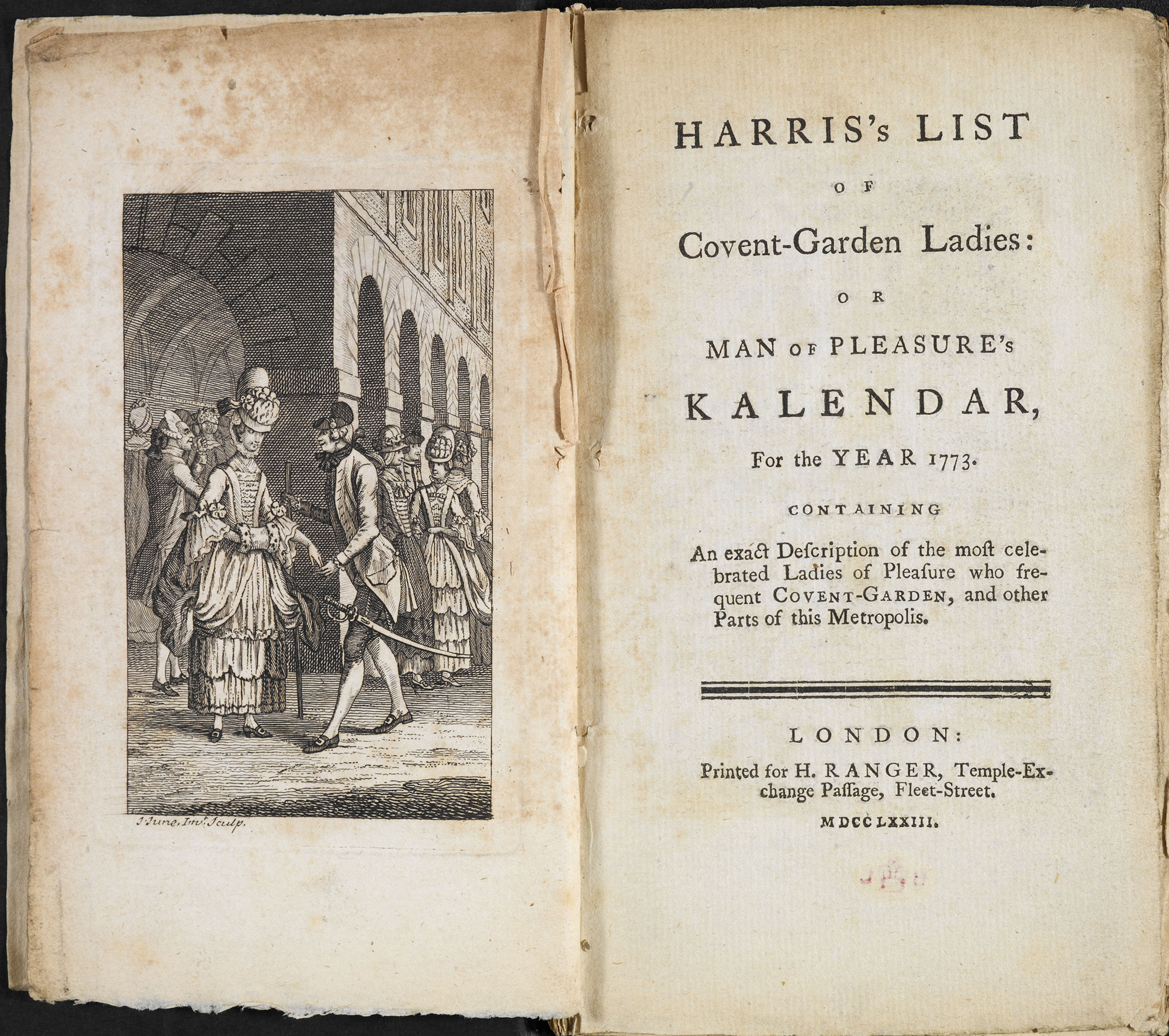 Harris's List of Covent-Garden Ladies, an 18th century guide to prostitutes