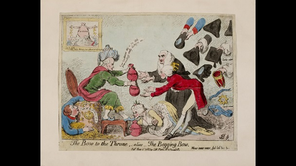 A Satirical Cartoon Showing The Wealth Made From Colonial Rule In India 1788 The British Library