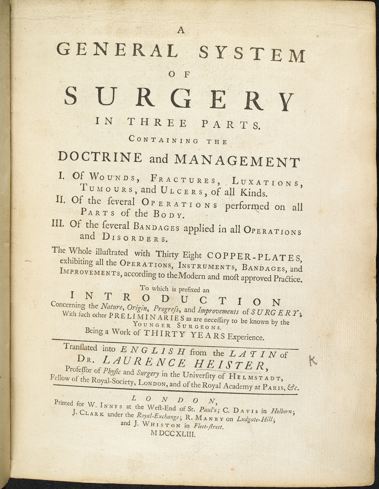 A General System of Surgery