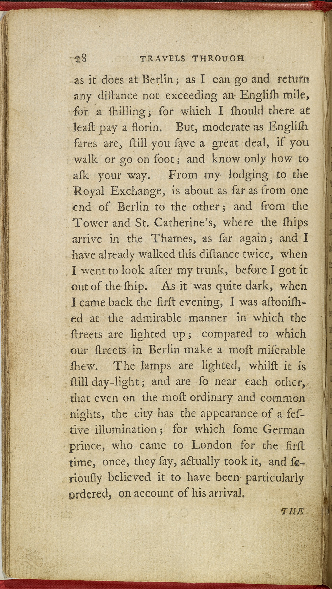 Late 18th century description of London's new street lights