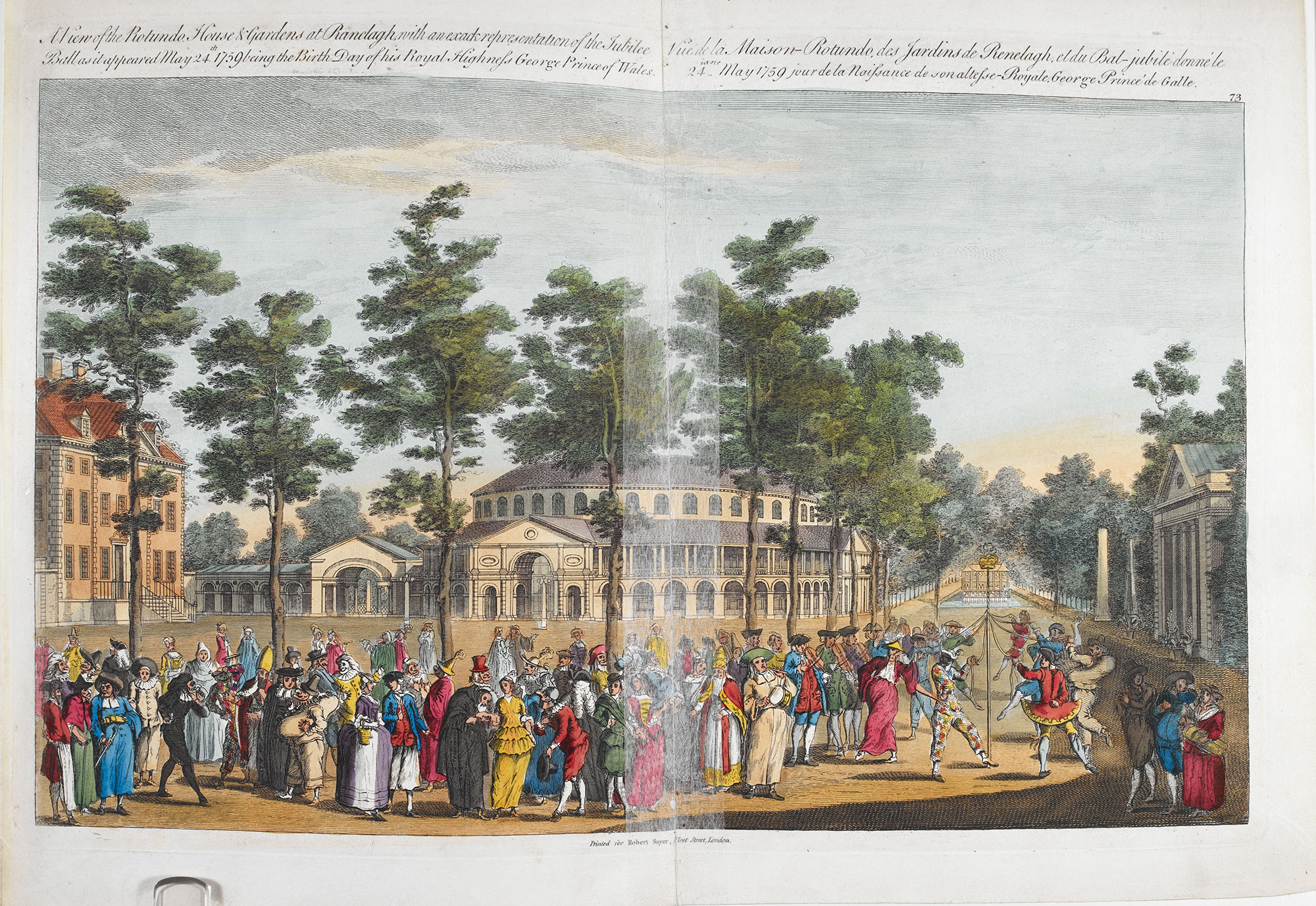 Illustration of entertainments at Ranelagh pleasure gardens