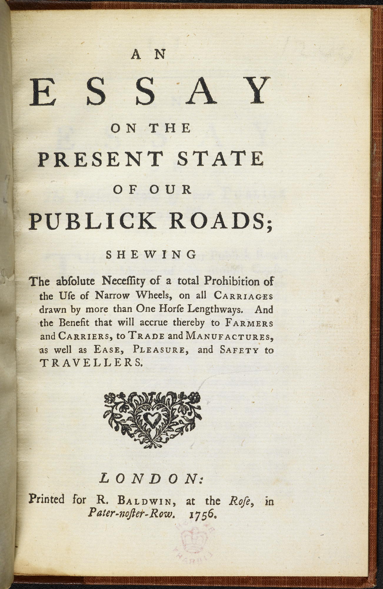 Extract from an 'essay on the present state of our publick roads'