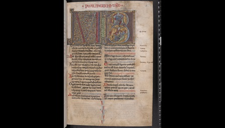 Greek-Latin Psalter from Paris (Add MS 47674 f002r)