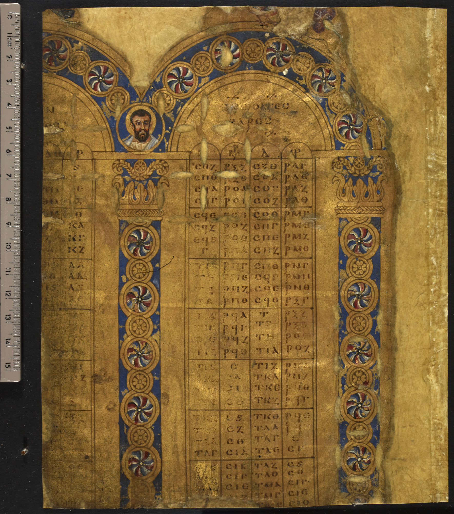 Golden Canon Tables (Add MS 5111 f010v)