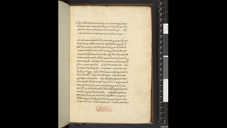 Lycophron with commentary (Burney MS 89 f001r)