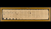 A 3rd-century papyrus roll containing a magical handbook, arranged in contiguous columns.