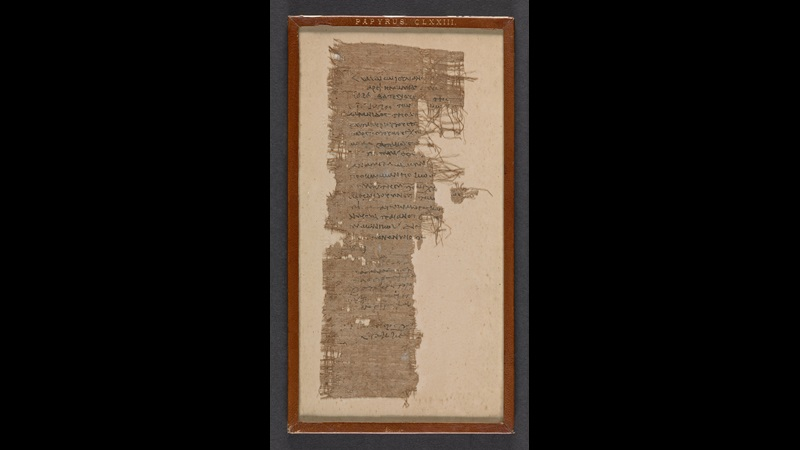 A 1st-century papyrus, featuring a fragmentary text containing a notification of death addressed to a royal scribe.