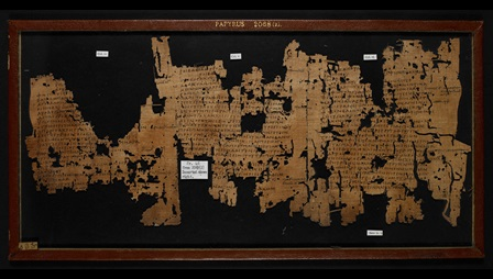 A fragmentary 2nd-century papyrus, preserving sections of Sophocles' Ichneutae.
