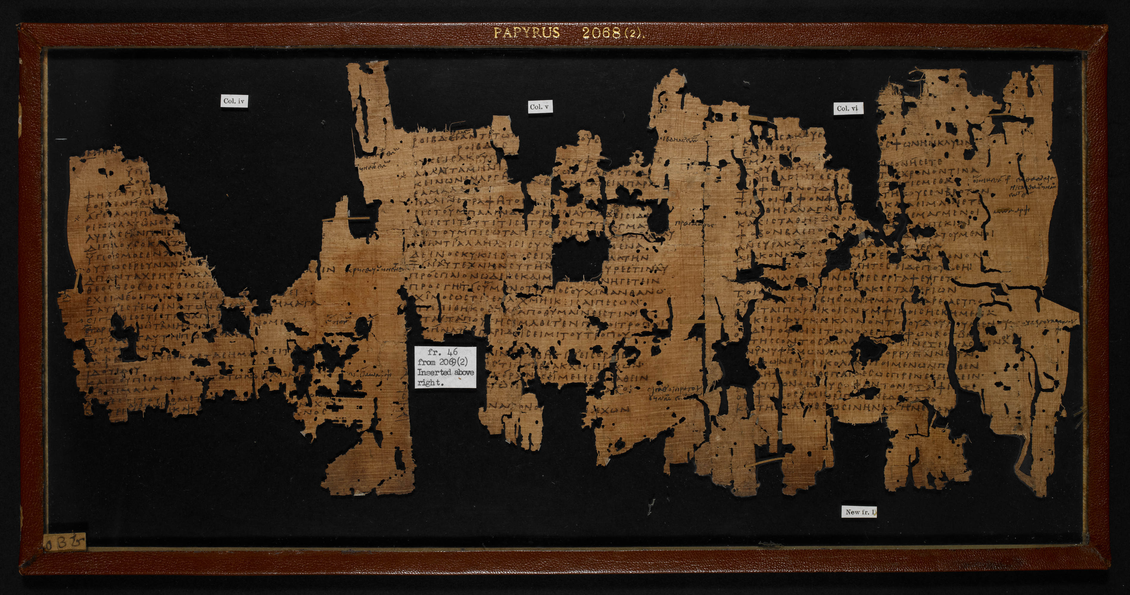 Sophocles' Ichneutae (Papyrus 2068 f002r)