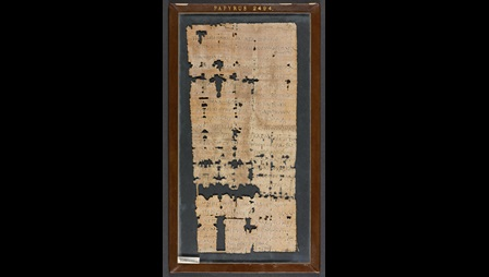 A 4th-century papyrus sheet, containing a private letter addressed to the hermit Papnouthius.