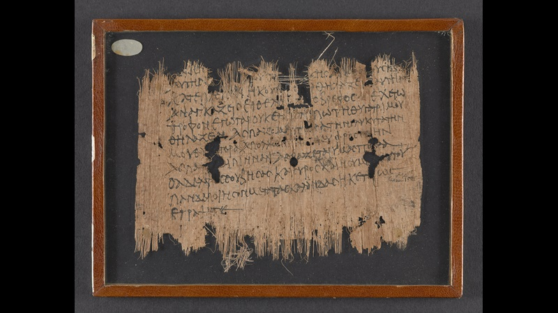 The back of a fragmentary 3rd-century papyrus, preserving a letter addressed to a son-in-law.