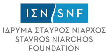 The logo of the Stavros Niarchos Foundation.