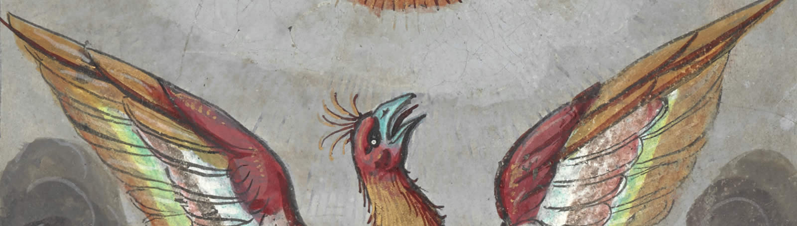 Image of a phoenix from L'Histoire et description du Phoenix, by Guy de la Garde in 1550.