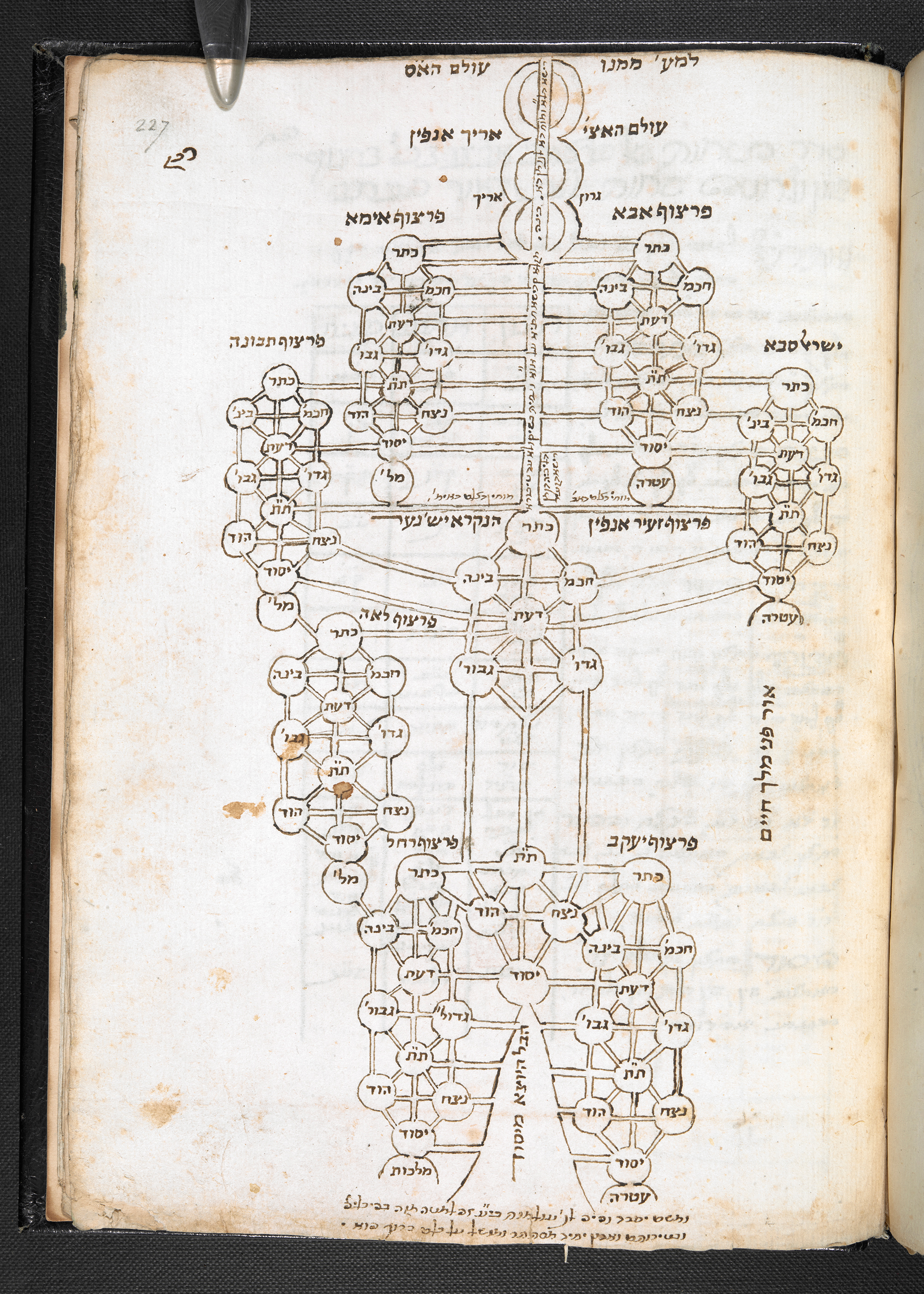 The denary tree, kaleidoscopically multiplied, Kabbalah: A treatise by Ḥayim Vital, with additions by other kabbalists, Add MS 27006, Hebrew Manuscripts Digitisation Project, British Library