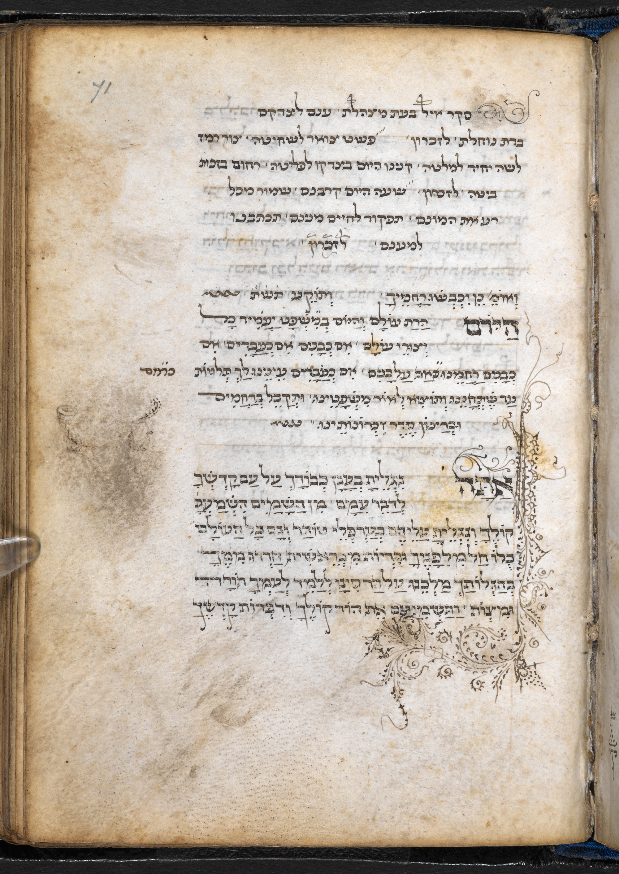 Full colour image, Add MS 26957, Hebrew Manuscripts Digitisation Project, British Library