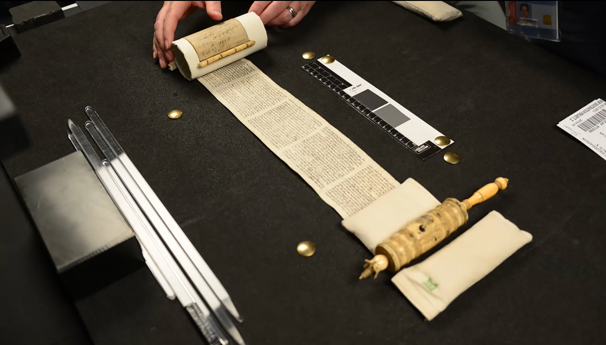 Watch this timelapse video showing the digitisation of a 17th-century Scroll of Esther by the British Library's Imaging Studio. This digitisation is part of the Hebrew Manuscripts Digitisation Project, funded by The Polonsky Foundation, to digitise over 1,250 manuscripts from the British Library magnificent collection of Hebrew manuscripts.