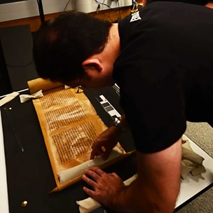 Watch this timelapse video showing the digitisation of a 19th-century Scroll of Esther by the British Library's Imaging Studio. This digitisation is part of the Hebrew Manuscripts Digitisation Project, funded by The Polonsky Foundation, to digitise over 1,250 manuscripts from the British Library magnificent collection of Hebrew manuscripts.