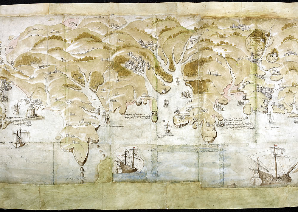 Map Of England Henry Viii.Henry Viii S Coastal Defence Maps The British Library