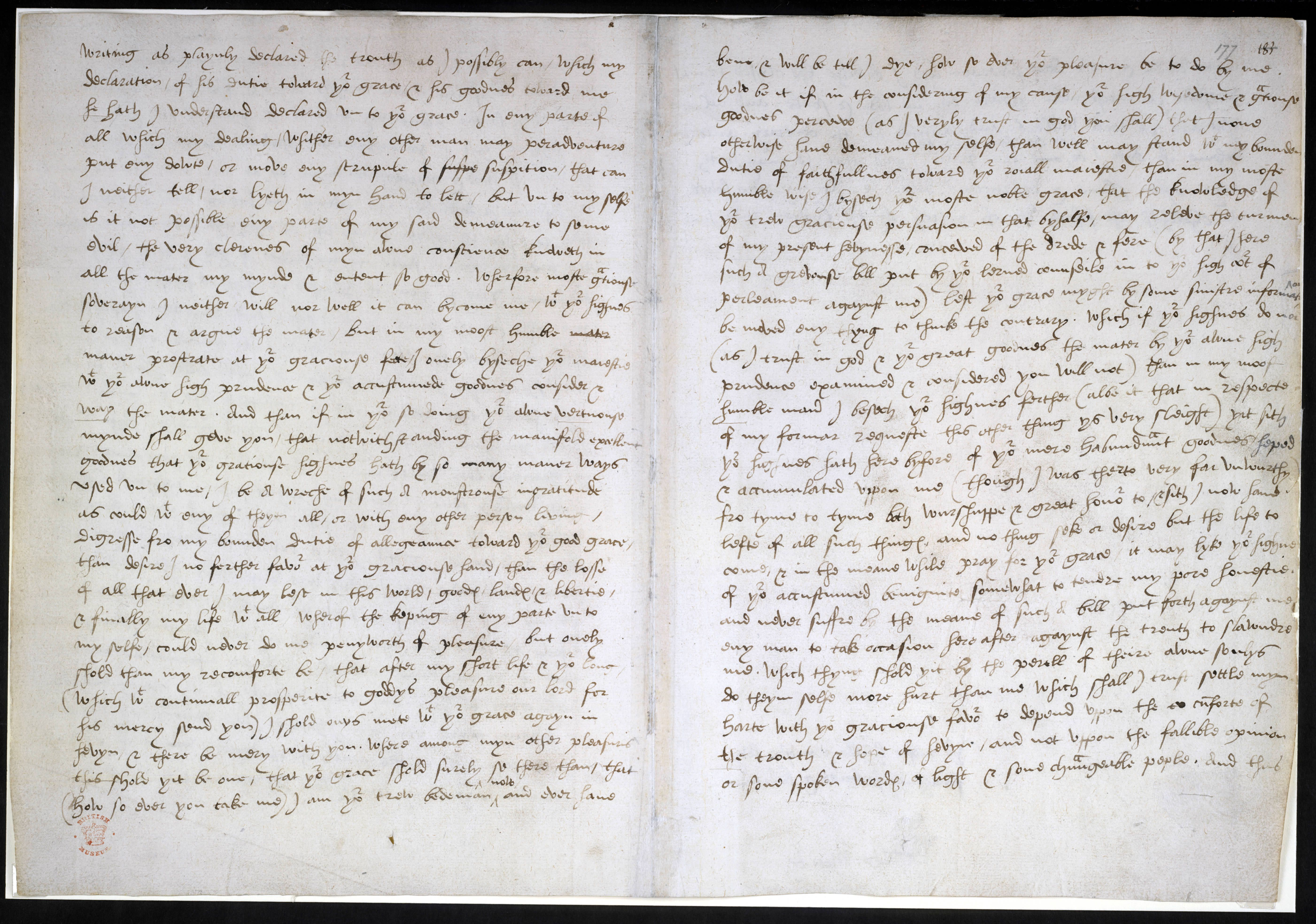 Last letter of Sir Thomas More to Henry VIII