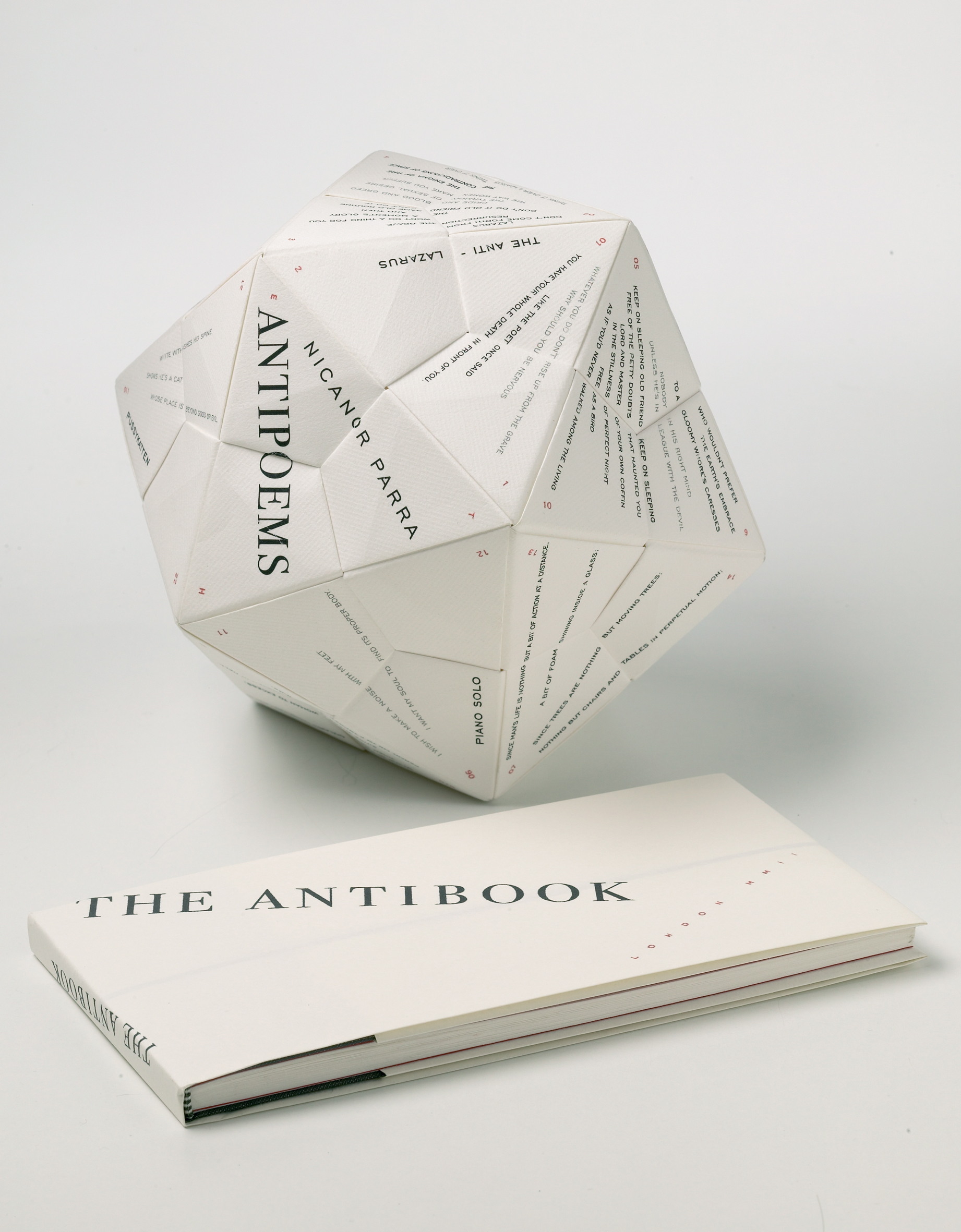 The Antibook by Francisca Prieto, inspired by the poetry of Nicanor Parra. Photo by Xavier Young