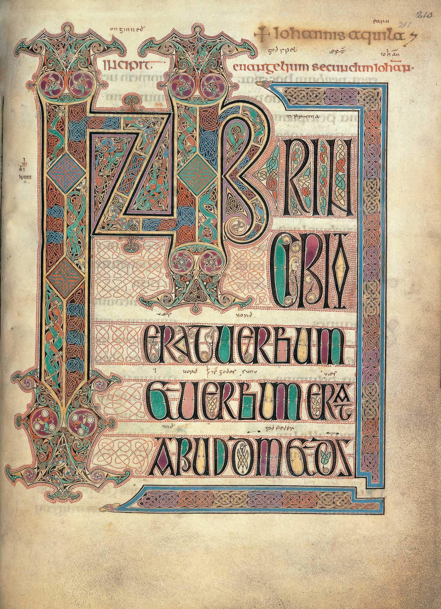Lindisfarne Gospels f.211