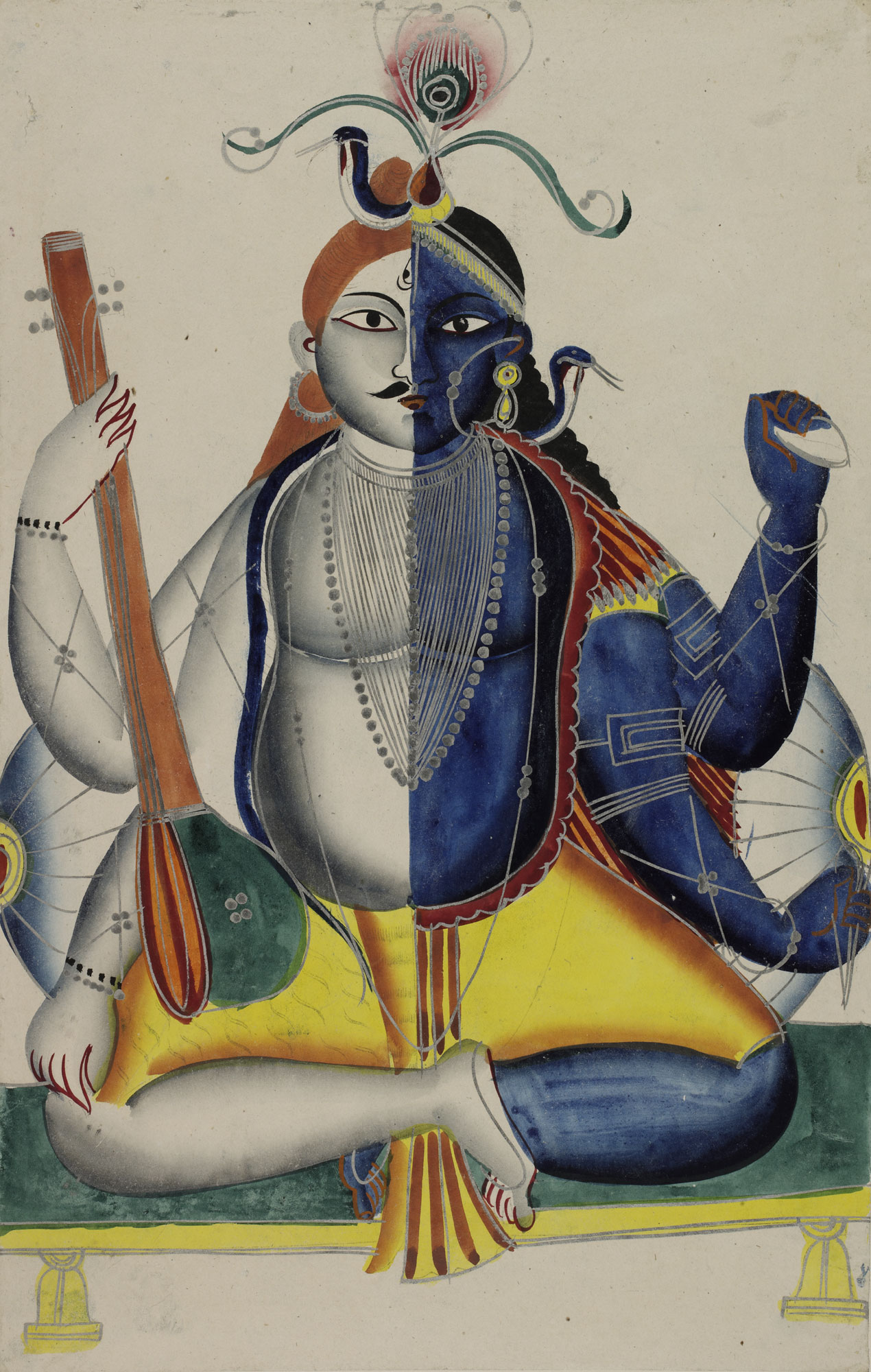 Vishnu and Shiva combined as Hari Hara