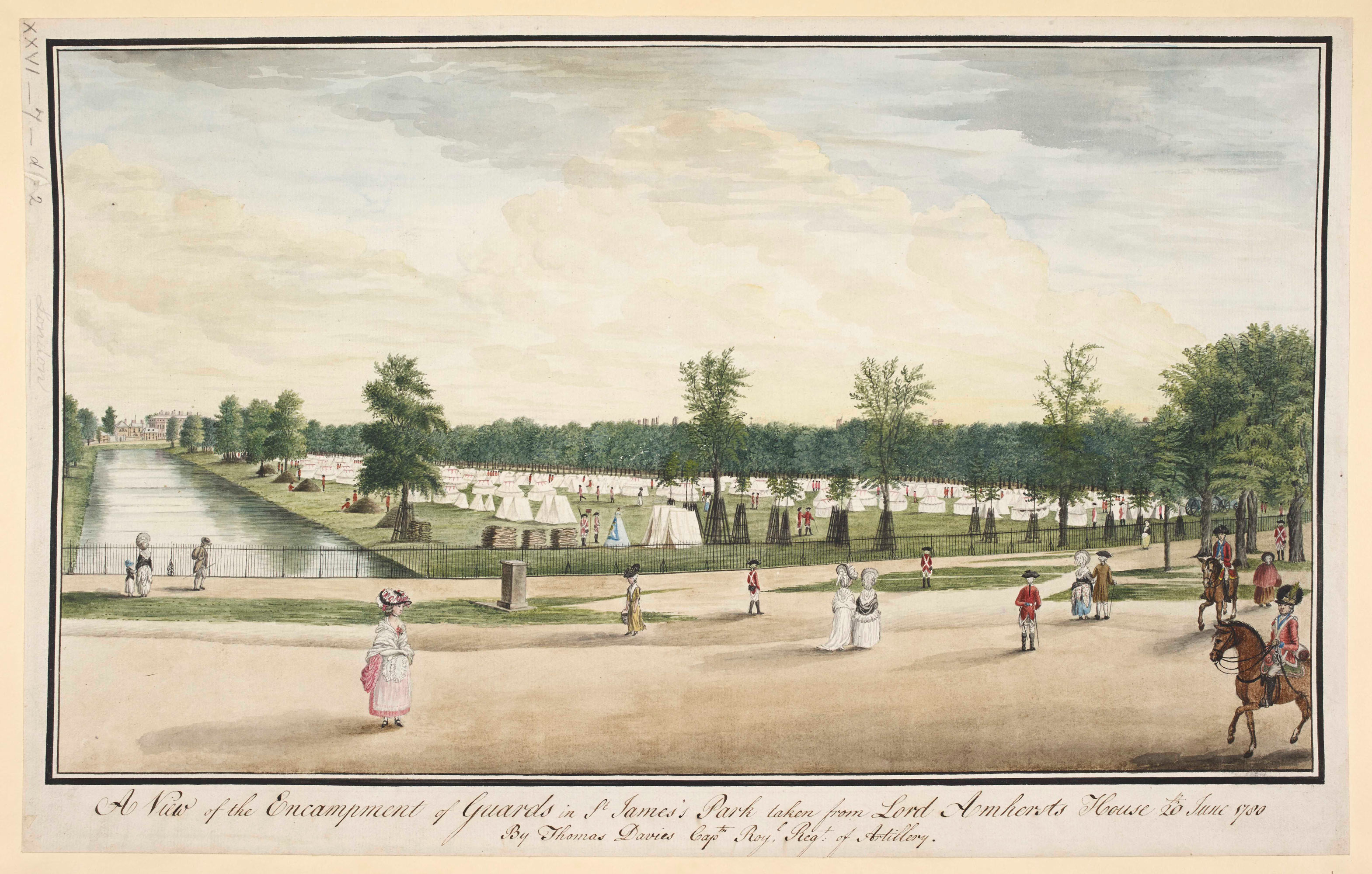 View of the Encampment of Guards in St James's Park