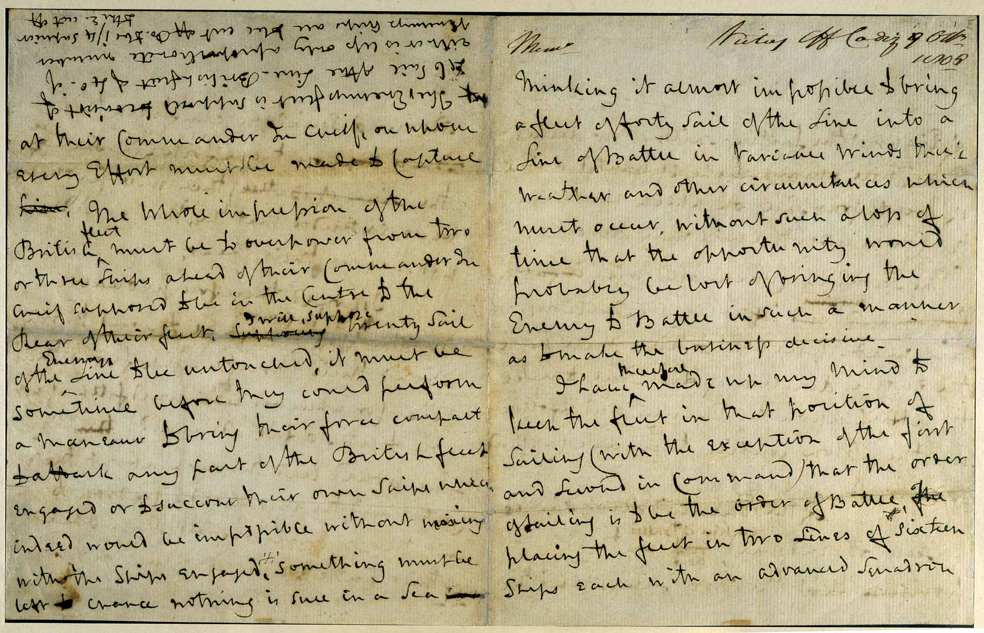 Admiral Nelson's Trafalgar Memorandum,f1