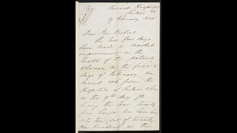 Florence Nightingale's letter to Sir Sidney Herbert, Secretary of State for War,f.164