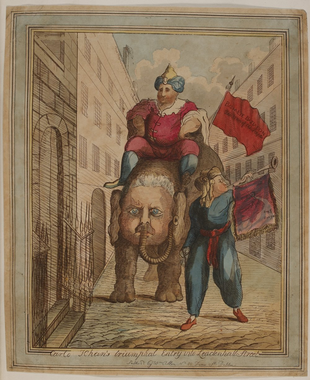Carlo Khan's Triumphal Entry into Leadenhall Street James Sayers (1783)