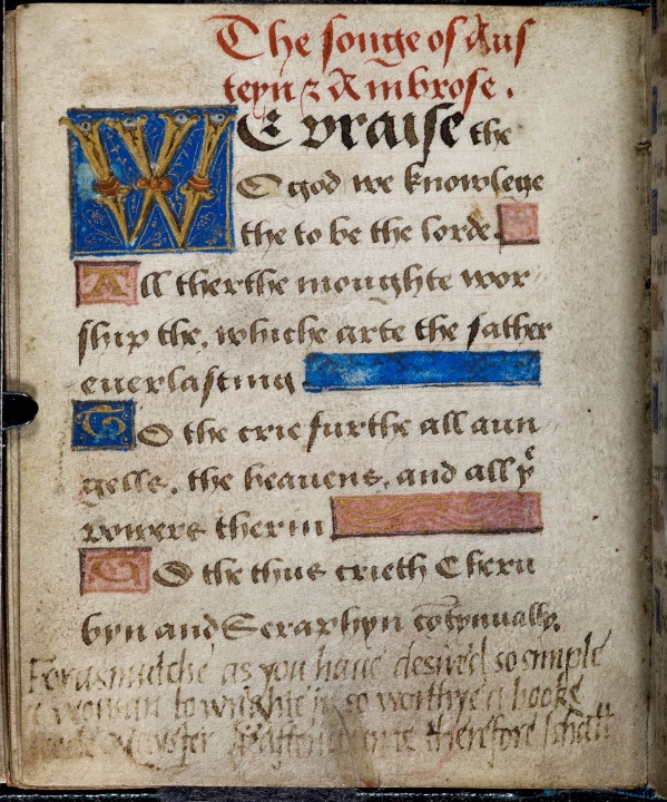 Page from Lady Jane's Prayer book, f.74v