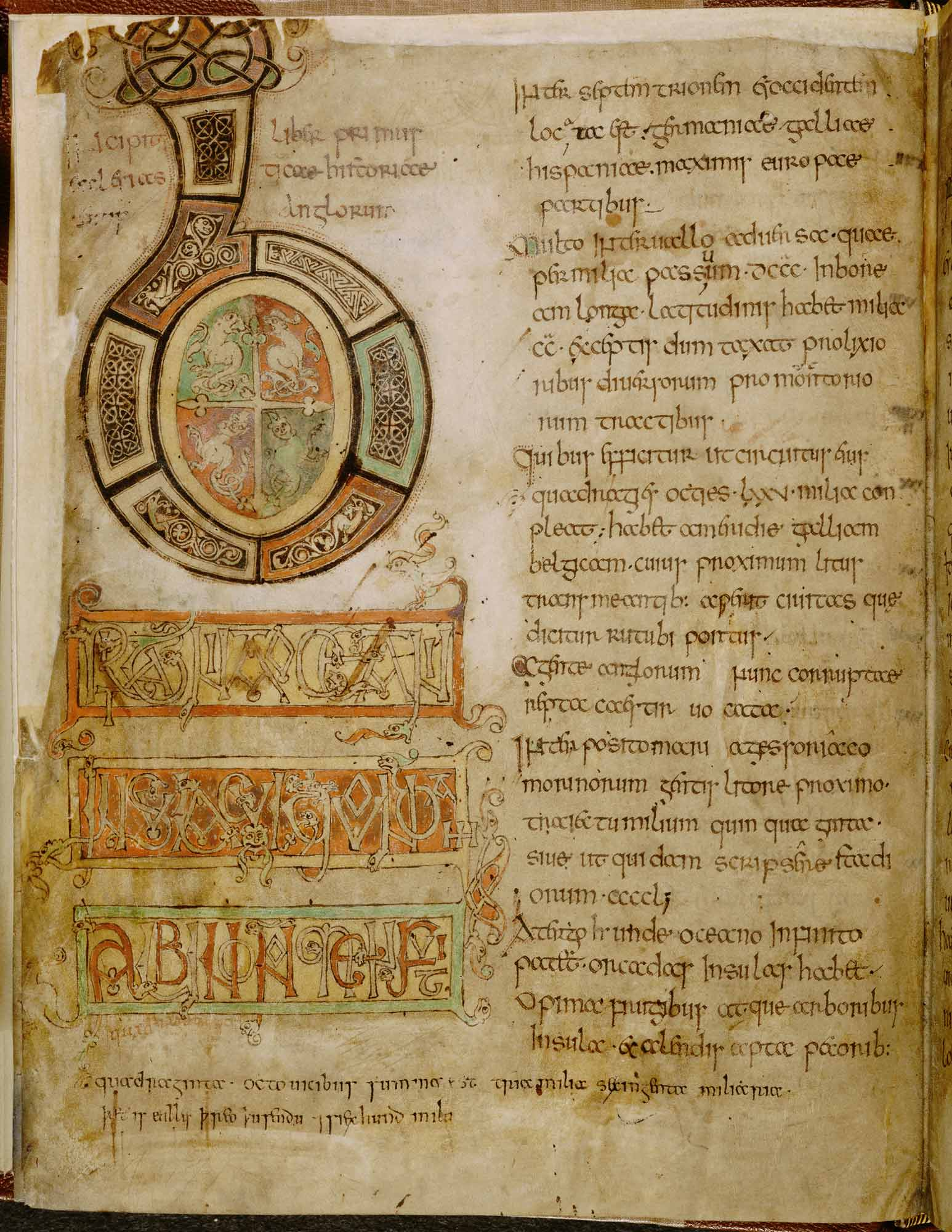 The Venerable Bede, Historia Ecclesiastica Gentis Anglorum (Ecclesiastical History of the English People)f.5v