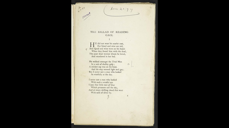 Oscar Wilde's Ballad of Reading Gaol