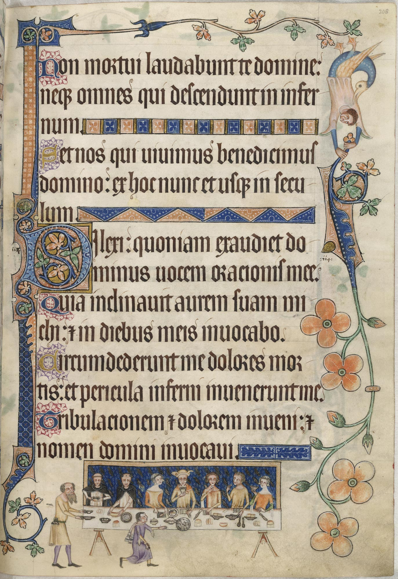 The Luttrell Psalter, f.208