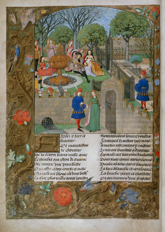 Roman de la Rose illustration f.12v