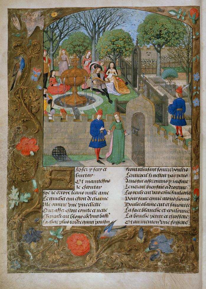 Roman de la Rose illustration f.12v