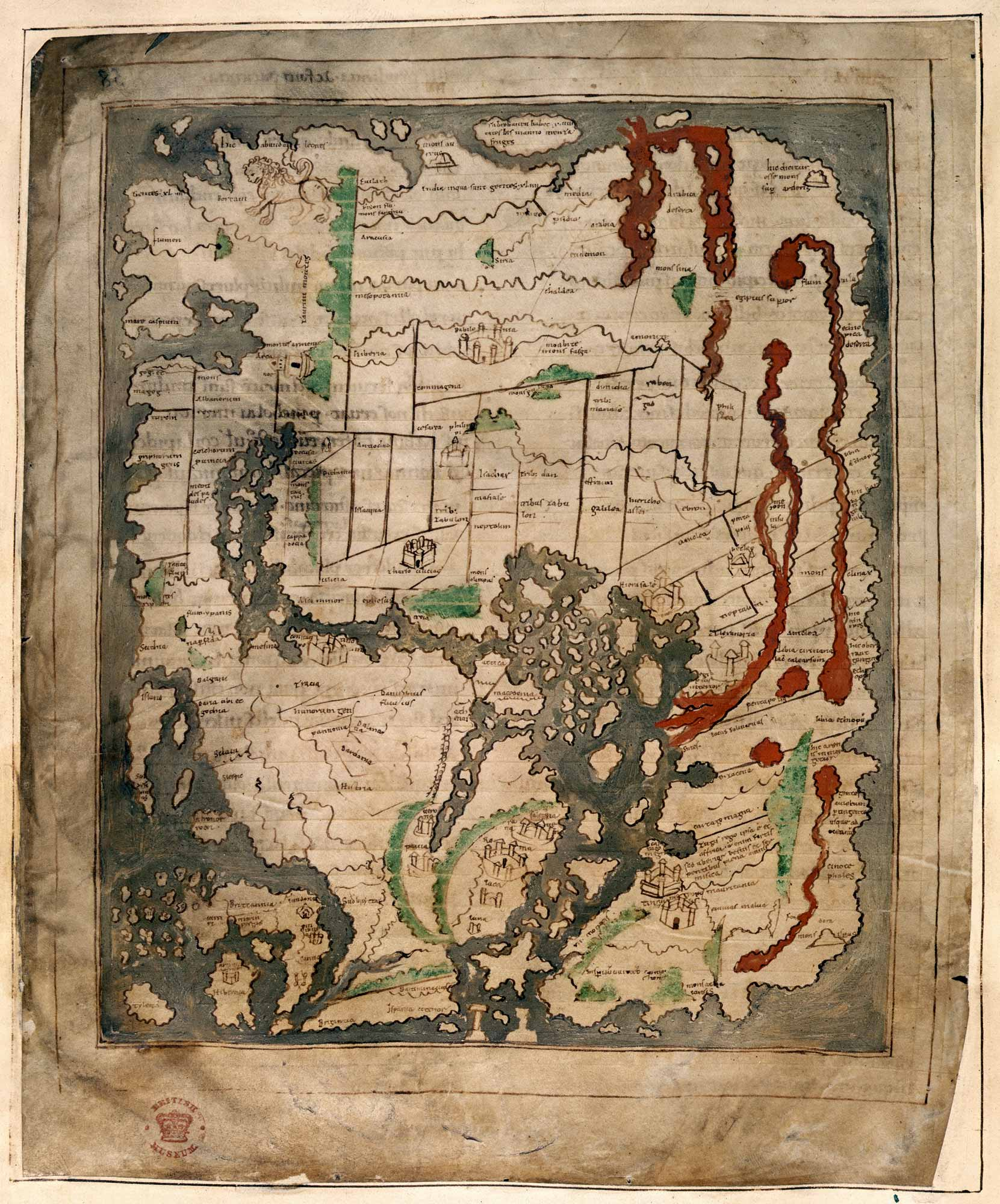 Map Of England During Anglo Saxon Times.Anglo Saxon World Map The British Library